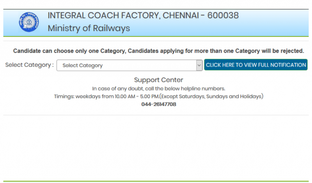 Integral Coach Factory (ICF) Railway Recruitment 2020-D2F