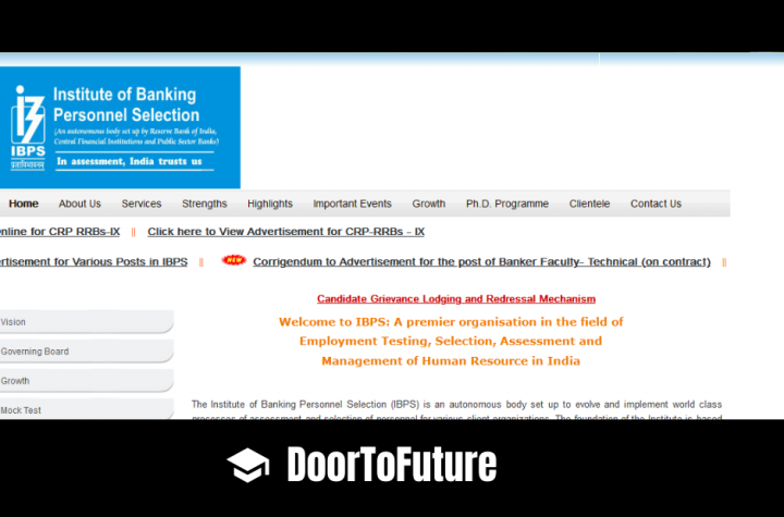 IBPS Institute of Banking Personnel Notification 2020